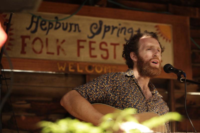 Dan Musil performing live at Hepburn Springs Folk Festival
